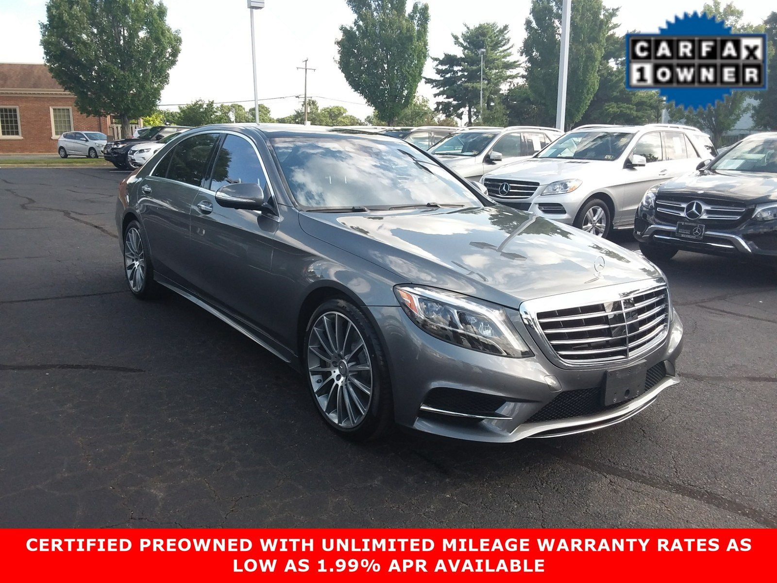Certified Pre Owned 2016 Mercedes Benz S Class S 550 Sport SEDAN in