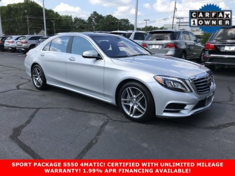Certified Pre-Owned 2016 Mercedes-Benz S-Class S 550 Sport